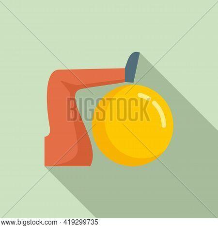 Workout Senior Fitness Ball Icon. Flat Illustration Of Workout Senior Fitness Ball Vector Icon For W
