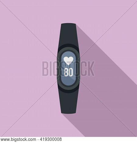 Fitness Bracelet Icon. Flat Illustration Of Fitness Bracelet Vector Icon For Web Design