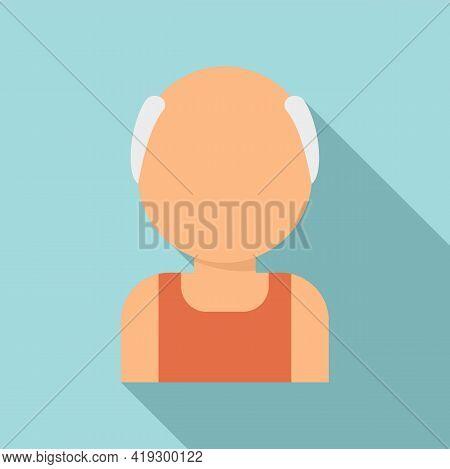 Senior Workout Icon. Flat Illustration Of Senior Workout Vector Icon For Web Design