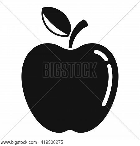 Fresh Apple Icon. Simple Illustration Of Fresh Apple Vector Icon For Web Design Isolated On White Ba
