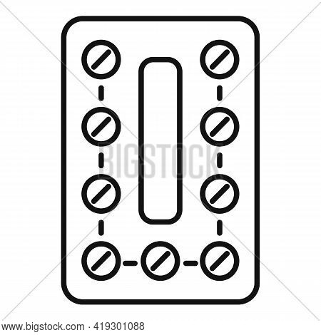 Hormones Pills Icon. Outline Hormones Pills Vector Icon For Web Design Isolated On White Background