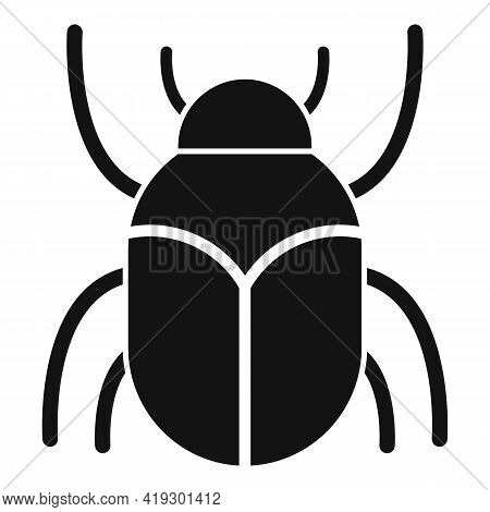 Scarab Beetle Insect Icon. Simple Illustration Of Scarab Beetle Insect Vector Icon For Web Design Is