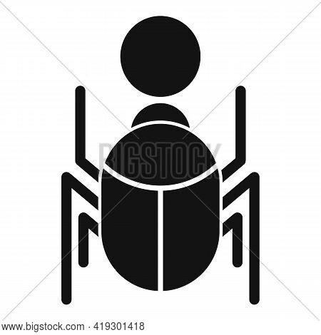 Pharaoh Scarab Beetle Icon. Simple Illustration Of Pharaoh Scarab Beetle Vector Icon For Web Design
