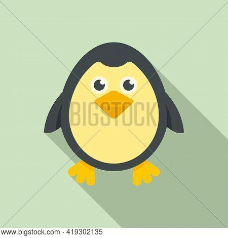 Penguin Bath Toy Icon. Flat Illustration Of Penguin Bath Toy Vector Icon For Web Design