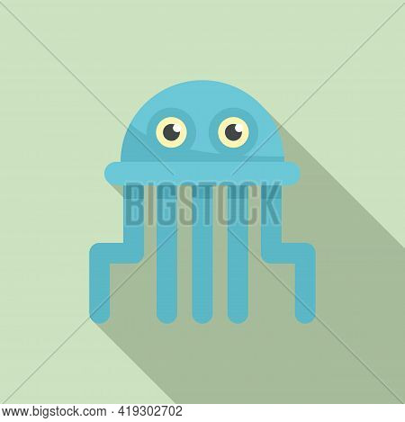 Jellyfish Toy Icon. Flat Illustration Of Jellyfish Toy Vector Icon For Web Design