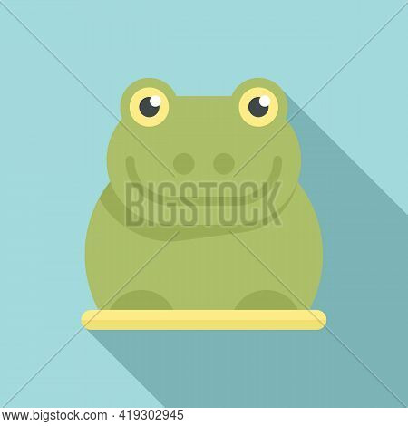 Rubber Frog Icon. Flat Illustration Of Rubber Frog Vector Icon For Web Design