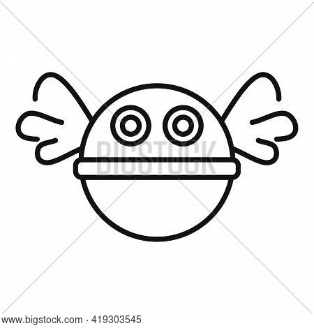 Fly Ball Toy Icon. Outline Fly Ball Toy Vector Icon For Web Design Isolated On White Background