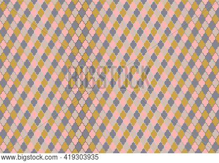 Turkish Mosque Window Vector Seamless Pattern. Moroccan Muslim Background.