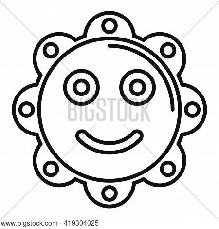Sun Toy Icon. Outline Sun Toy Vector Icon For Web Design Isolated On White Background