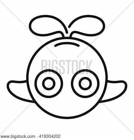 Cute Whale Toy Icon. Outline Cute Whale Toy Vector Icon For Web Design Isolated On White Background