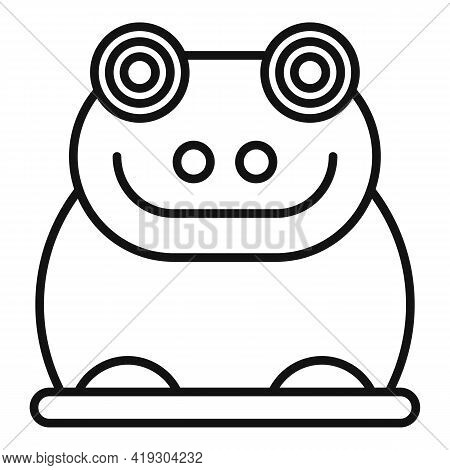 Rubber Frog Icon. Outline Rubber Frog Vector Icon For Web Design Isolated On White Background