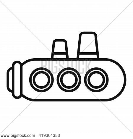 Submarine Toy Icon. Outline Submarine Toy Vector Icon For Web Design Isolated On White Background