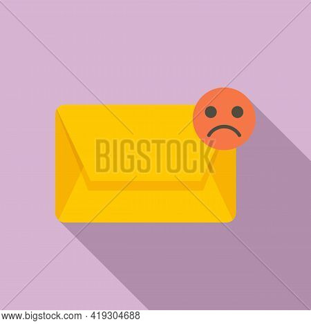 Spam Mail Teen Problem Icon. Flat Illustration Of Spam Mail Teen Problem Vector Icon For Web Design