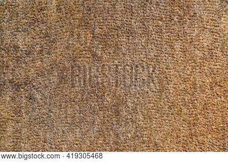 The Texture Of An Old And Worn Coir Doormat