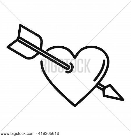 Teen Problems Heart Love Icon. Outline Teen Problems Heart Love Vector Icon For Web Design Isolated