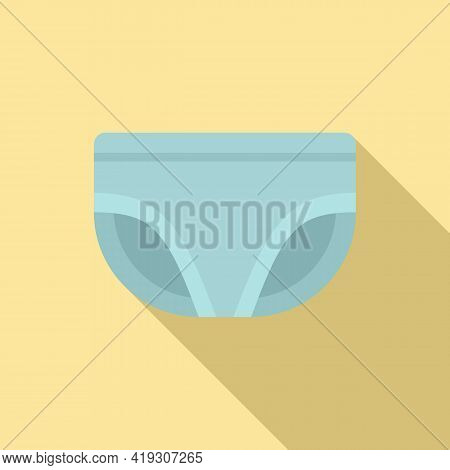 Absorbing Diaper Icon. Flat Illustration Of Absorbing Diaper Vector Icon For Web Design