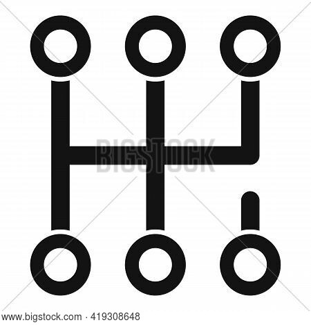 Gearbox Scheme Icon. Simple Illustration Of Gearbox Scheme Vector Icon For Web Design Isolated On Wh