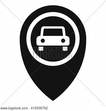 Driving School Location Icon. Simple Illustration Of Driving School Location Vector Icon For Web Des