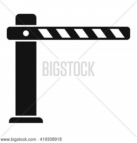 Parking Barrier Icon. Simple Illustration Of Parking Barrier Vector Icon For Web Design Isolated On