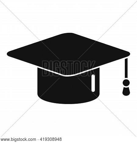 Driving School Graduation Hat Icon. Simple Illustration Of Driving School Graduation Hat Vector Icon