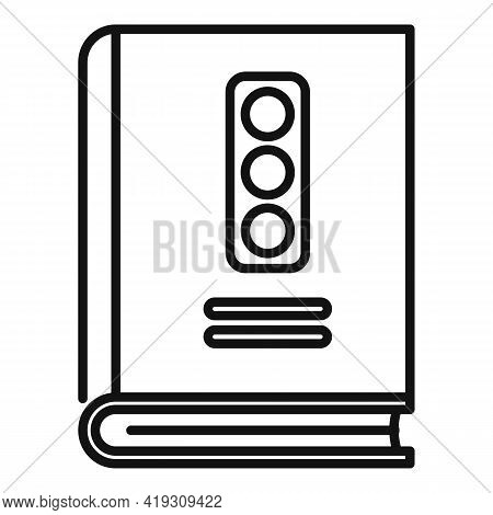 Traffic Rules Icon. Outline Traffic Rules Vector Icon For Web Design Isolated On White Background