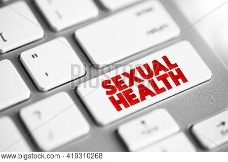 Sexual Health Text Button On Keyboard, Concept Background