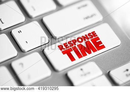 Response Time Text Button On Keyboard, Concept Background