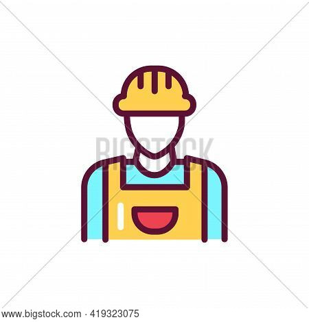 Master Line Icon. Handyman Service.isolated Vector Element.
