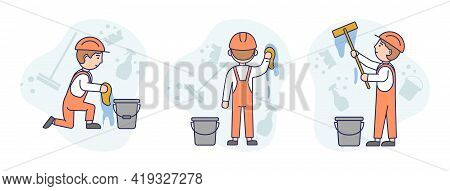 Concept Illustration On White Background. Vector Composition With Characters. Linear Outline And Sof