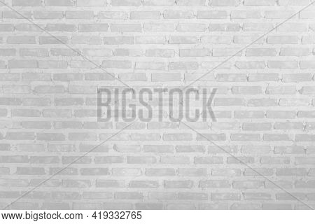 The White Brick Wall Is Very Beautiful. The Softness Of The White Brick Wall In Vintage Style. The R
