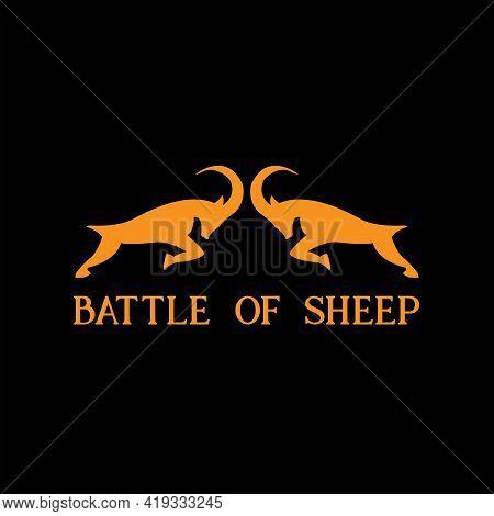 Sheep Design Logo Vector. Sheep Illustration Animal Vector