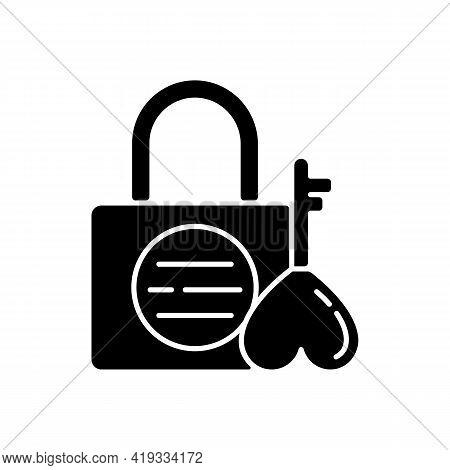 Namsan Love Locks Black Glyph Icon. Couple Relationship Devotion. Romantic Padlocks, Tradition For N