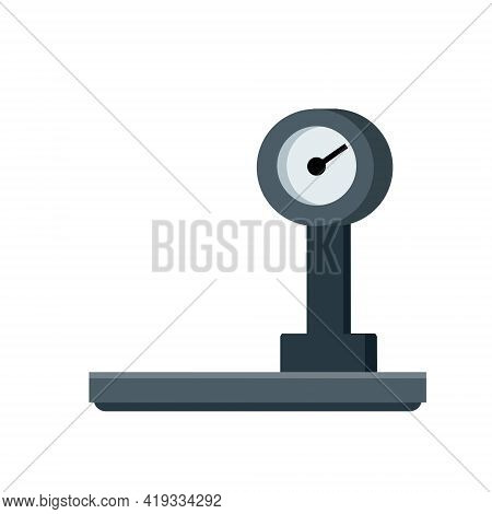 Scales. Industrial Tool For Weighing And Trading. Dial With An Arrow. Item Shop And The Counter. Fla