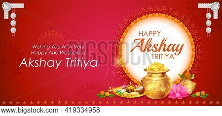 Background For Happy Akshay Tritiya Religious Festival Of India Celebration