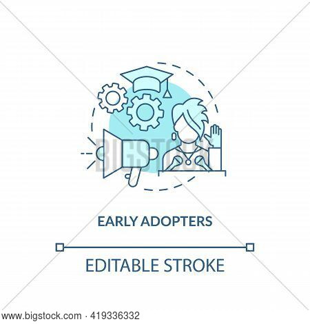 Early Adopters Concept Icon. Product Adopters Idea Thin Line Illustration. Increasing Market Penetra