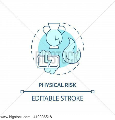 Physical Risk Concept Icon. Purchase Risk Factor Idea Thin Line Illustration. Dangerous Product. Inj