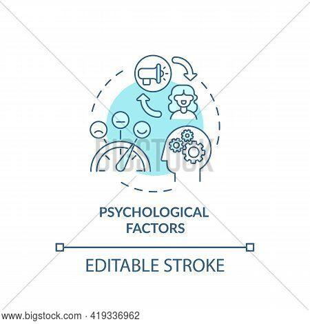 Psychological Factors Concept Icon. Purchase Decision Factor Idea Thin Line Illustration. Mind, Psyc