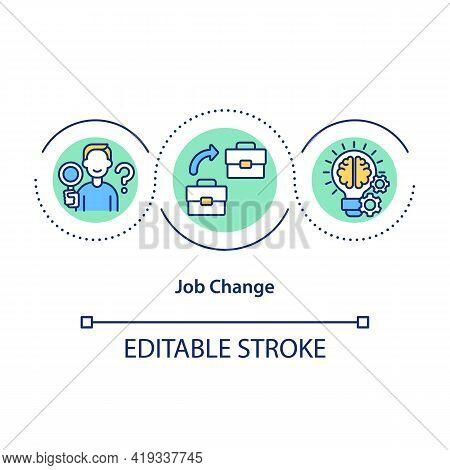 Job Change Concept Icon. Career Transition Idea Thin Line Illustration. New Opportunities. Deliberat