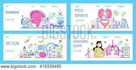 Pyelonephritis And Kidney Stones Diseases. Urarthritis, Cystitis Pulmonary Are Shown