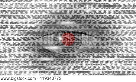 Human Android Cyborg Eye Futuristic Control Protection Personal Internet Security Access. Concept Ro