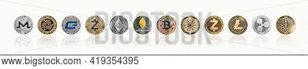 Cryptocurrency Bitcoin Btc With Eth Ethereum, Cardano, Ripple, Litecoin, Miota, Zcash, Monero, Gash,
