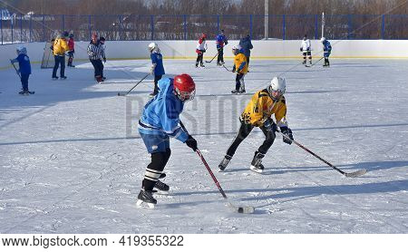 Open Hockey Family Festival In Winter