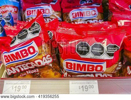 Bimbo Mantecadas Con Nuez With Nuts Packaging Supermarket In Mexico.