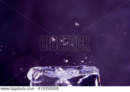Rain With Splashing Water Droplets Photographed In Spring In Germany