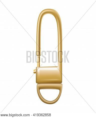 Carabiner Clasp. Metal Carabine For Climbing Rope Link. Snap Hook For Bag, Safety Or Protecting Acce