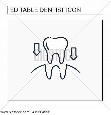 Tooth Transplants Line Icon. Tooth Transplants Concept. Technology Of Restorative Dentistry. Dental