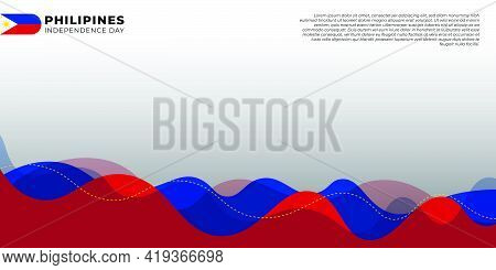 Philippines Independence Day With Philippines Background Design. Good Template For Philippines Natio