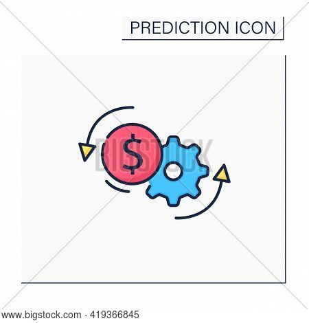 Price Optimization Color Icon. Perfect Buying Cost. Price Reduction. Best Buying Conditions. Money S