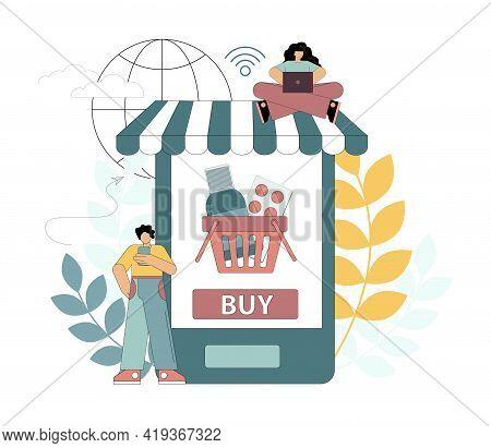 Order Medicines Online. Home Delivery Of Medicines. People Order Medicines Using Gadgets