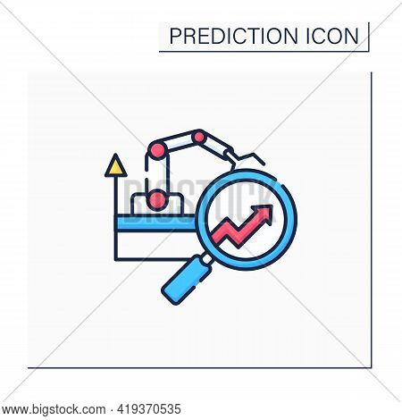 Manufacturing Predictive Analytics Color Icon.provides Operations With Ability To Extract Insight. A